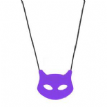 Cat Pendant - 'Purrple' - Chewigem